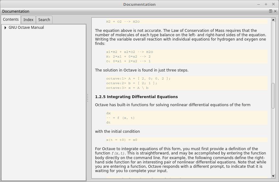 GNU Octave - Bugs: bug #53006, GUI Documentation Browser
