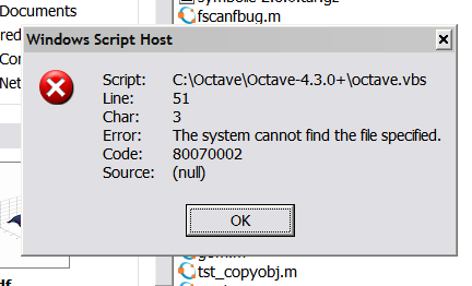 GNU Octave - Bugs: bug #53369, Octave 4 5 0+ launched from    [Savannah]